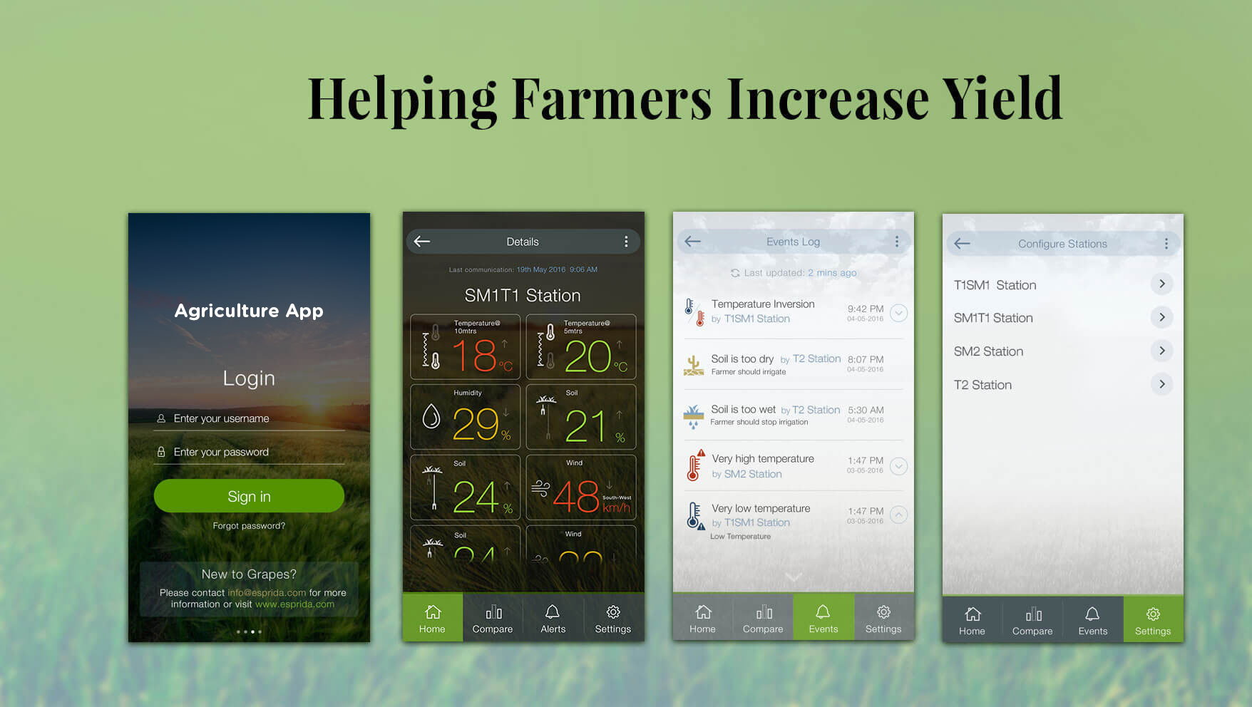 agriculture app by iot application development team