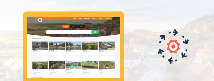 create a real estate website